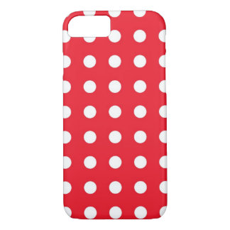 Red White Chic Polka Dot iPhone 7 Case