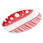Red & White Christmas Porcelain Serving Platter