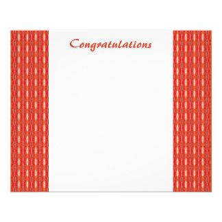 Red White Congratulations 11.5 Cm X 14 Cm Flyer