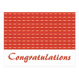Red White Congratulations Post Card