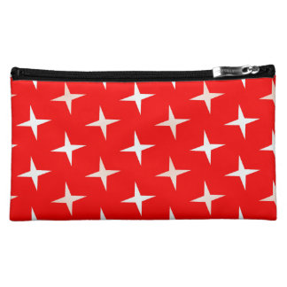 red white cross meduim Medium Cosmetic Bag