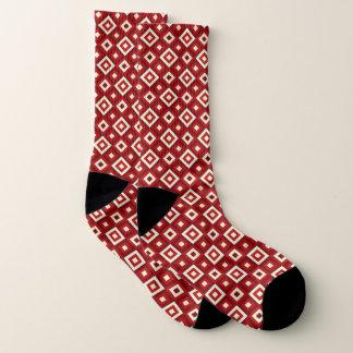 Red & White Diamonds Socks 1