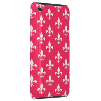 Red & White Fleur De Lis Pattern Case-Mate iPod Touch Case