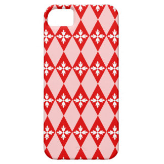 Red White Floral Diamonds iPhone 5 Covers