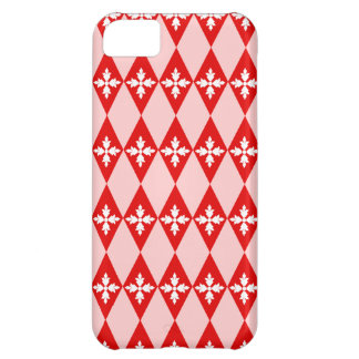 Red White Floral Diamonds iPhone 5C Cover