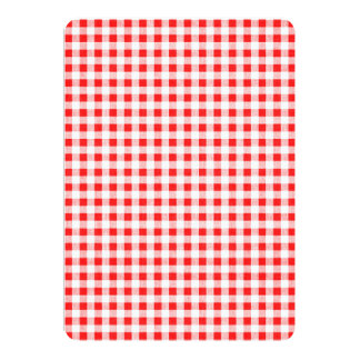 Red White Gingham Pattern 13 Cm X 18 Cm Invitation Card