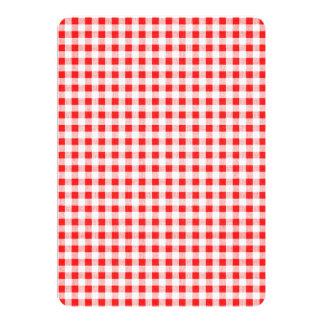 Red White Gingham Pattern 13 Cm X 18 Cm Invitation Card