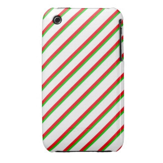 Red White Green Stripes Case iPhone 3 Case-Mate Cases