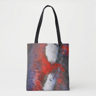Red White Grey Abstract Tote Bag