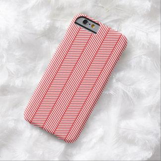 Red White Herringbone Zigzag Barely There iPhone 6 Case