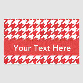 Red White Houndstooth Pattern Stickers