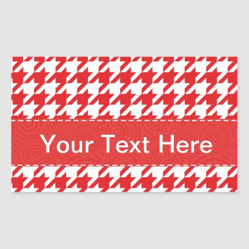 Red & White Houndstooth Pattern Stickers