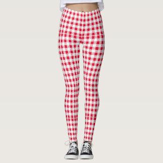 red-white leggings