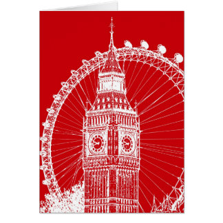 Red & White London postcard