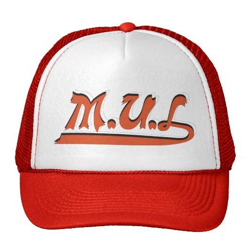 Red & White M.U.L Logo Cap Trucker Hat