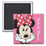 Red & White Minnie 1 Fridge Magnet