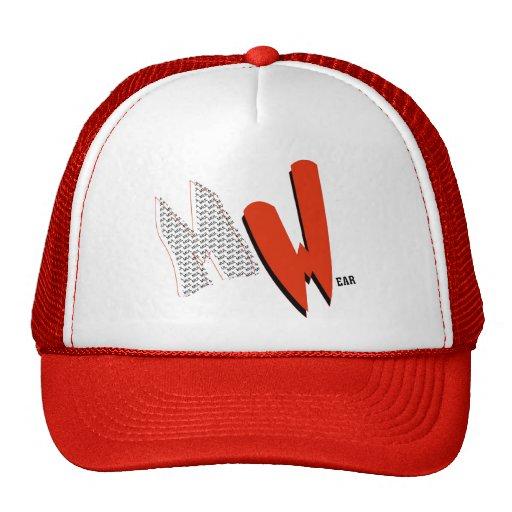 Red & White MulWear MW Cap Hat