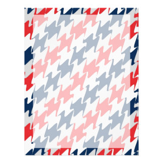 Red White Navy Blue New England Football Colors 21.5 Cm X 28 Cm Flyer