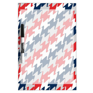 Red White Navy Blue New England Football Colors Dry-Erase Boards