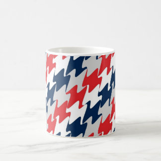 Red White Navy Blue New England Football Colors Morphing Mug