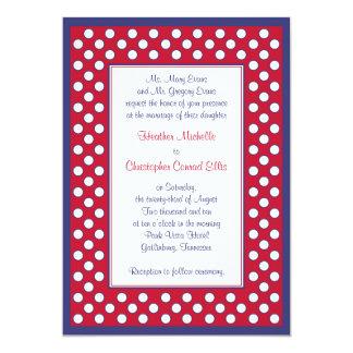 Red, White, & Navy Wedding Invitation - Patriotic