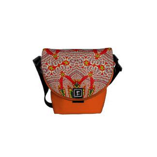 Red White Pattern Mini Messenger Bag