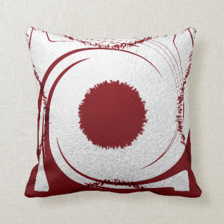 Red White Pillow abstract