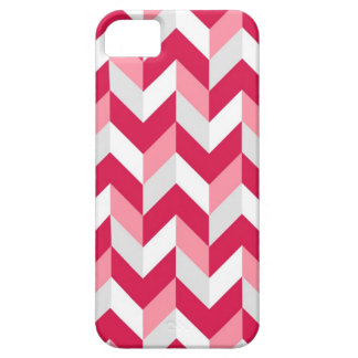 Red White Pink Herringbone Chevron Zigzag Pattern iPhone 5 Covers