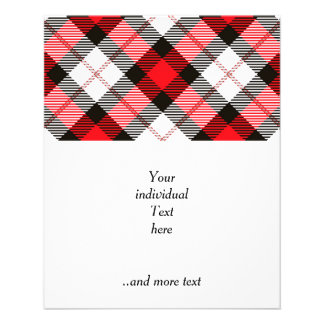 red white plaid 11.5 cm x 14 cm flyer