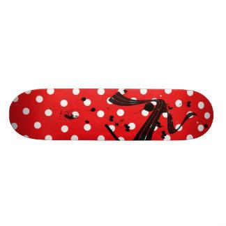 Red & White Polka Dot Comp Skateboard