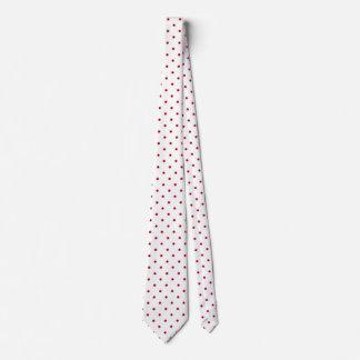 Red white polka dot tie
