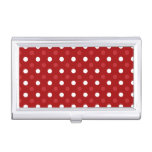Red white polka dots