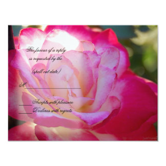 red white rose rsvp 11 cm x 14 cm invitation card