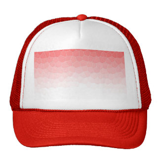 Red white stained glass mesh hats