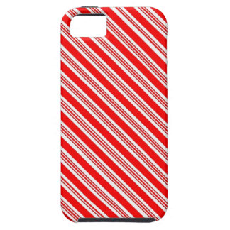Red White striped candy cane iPhone 5 Covers