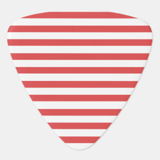Red & White Striped - Guitar pick