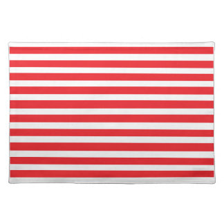 Red & White Striped Placemat