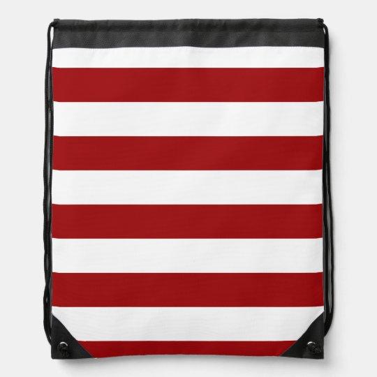 Red & White Striped Rucksack