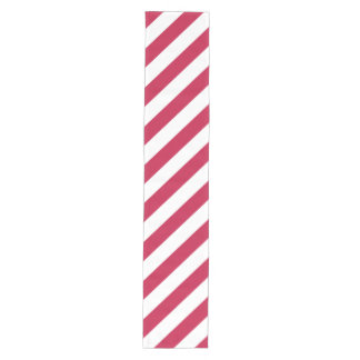 Red White Stripes Holiday Decor Wide Table Runner