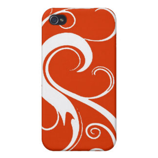 Red White Swirls  iPhone 4 Covers