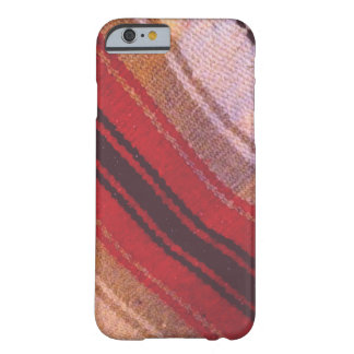 Red, White & Tan Striped Mexican Blanket Texture Barely There iPhone 6 Case
