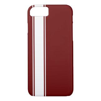 Red & White Team Jersey Stripe iPhone 7 Case