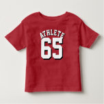 Red & White Toddler | Sports Jersey Design Tshirts