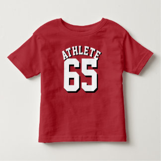 Red & White Toddler   Sports Jersey Design Tshirts