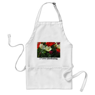 Red & White Tulips Apron