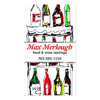 red white wine bottles sommelier biz card pack of standard business cards