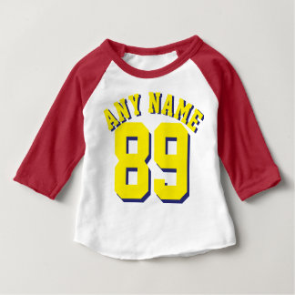 Red White & Yellow Baby | Sports Jersey Design T-shirts