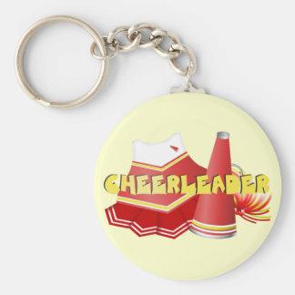 Red/White/Yellow Cheerleader Keychain
