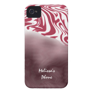 Red & White Zebra Print Blackberry Phone Case Mate iPhone 4 Cases