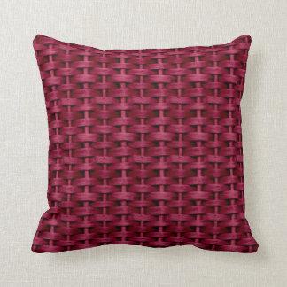 Red wicker retro graphic design throw cushions